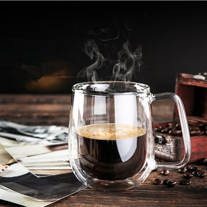 Double Wall Coffee Cup Glass
