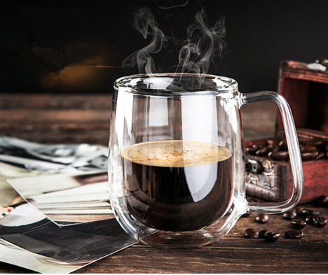 Double Wall Coffee Cup Glass For Coffee Lovers